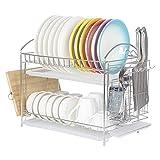 NEX Dish Drying Rack Stainless Steel Dish Storage Rack with Chopstick Holder