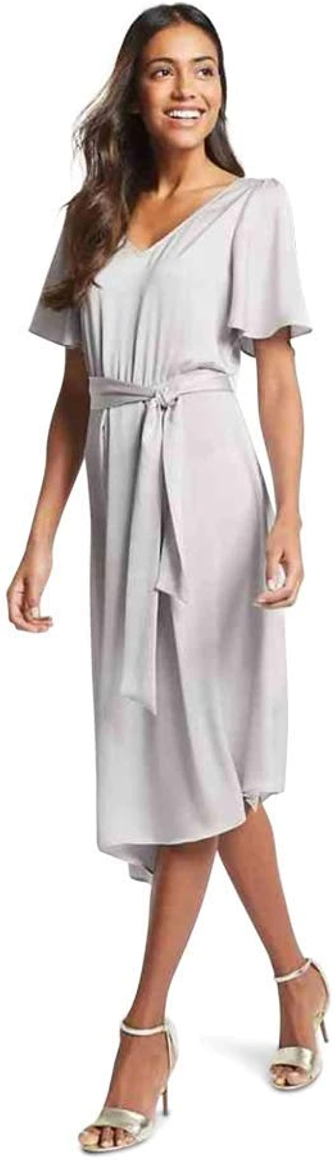 Marks /& Spencer T421037S M/&S Collection Satin Asymmetric Tunic Maxi Dress RRP£55