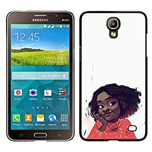 Be-Star Único Patrón Plástico Duro Fundas Cover Cubre Hard Case Cover Para Samsung Galaxy Mega 2 ( Cheerful Happy Girl Positive Portrait Art Face )