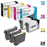 LD Remanufactured Ink Cartridge Replacements for Epson 252XL High Yield (2 Black, 1 Cyan, 1 Magenta, 1 Yellow, 5-Pack)