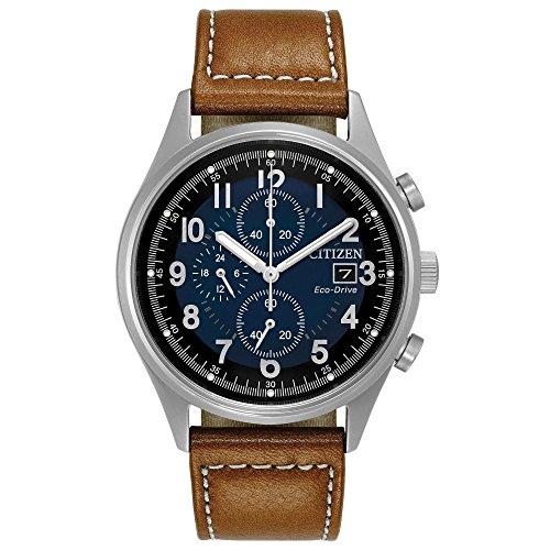 Citizen Eco Drive Chronograph Leather CA0621 05L