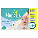 Pampers Baby Wipes Baby Fresh 12X Refill, 864 Count