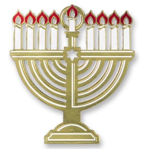Foil Menorah Silhouette Party Accessory (1 count) (1/Pkg) (Menorah Paper)