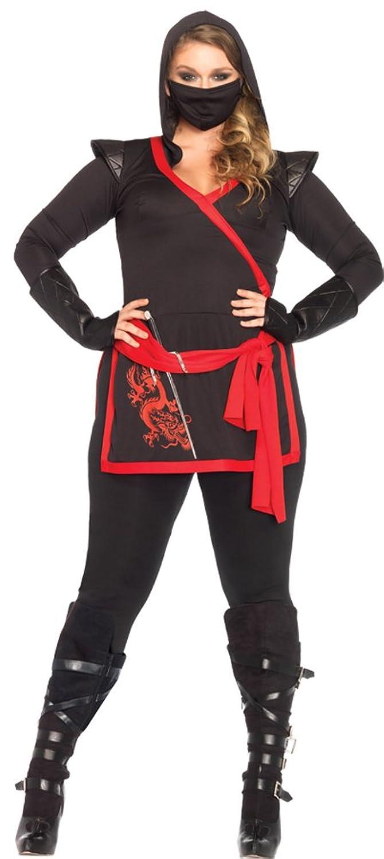 Amazon.com: Womens Halloween Costume- Ninja Assassin 4 Piece ...
