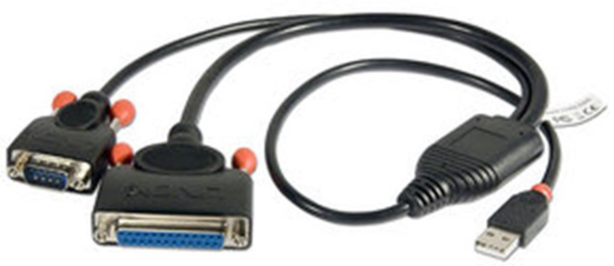 Lindy Adaptador USB Lite a puerto serie 4 puertos