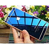 Zocardo Mirror Front Back Tempered Glass Screen Protector For Apple iPhone 6/ 6S - Blue with free soft back transparent cover worth Rupee 200