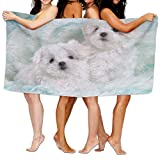 Lichang Beach Pool Custom Bath Towel Cute Animal Maltese Super Absorbent Microfiber