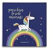 Baby Journal Book & Photo Album Gift for New Moms: Unicorn Rainbow-Handmade First Year Baby Shower Gift