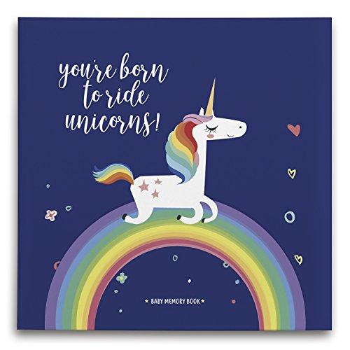 [해외]유니콘 아기 선물 / Baby Photo Album Scrapbook of Firsts, Little Unicorn Baby Memory Book for First Time Mom Newborn Journal