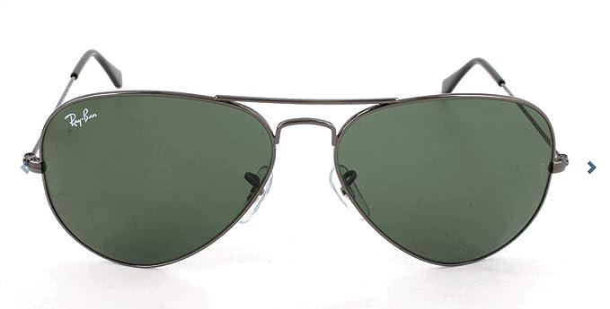 Ray-Ban Hombre Gafas de sol de aviador RB3025, Gris