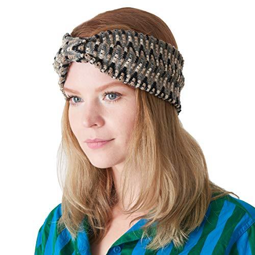 Womens Fashion Headband Turband Hairband Twist Knot Handmade Headwrap Hairwrap Hair Head Band Beige