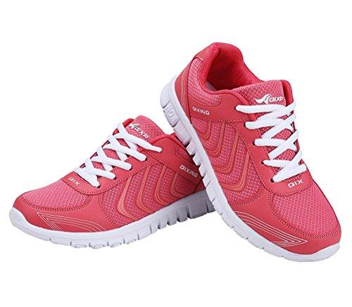 Sportschuhe Herren Fitness Ultra Atmungsaktives Leichte Rot Straßenlaufschuhe Bequem Laufschuhe Sneakers Turnschuhe Rutschfeste Damen CCZZ Schuhe dwtqad