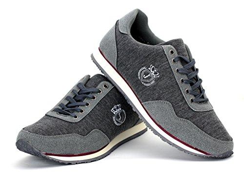 Hombre De Lona Zapatillas Casual Zapatos Con Cordones Correr Caminar Zapatillas Gris