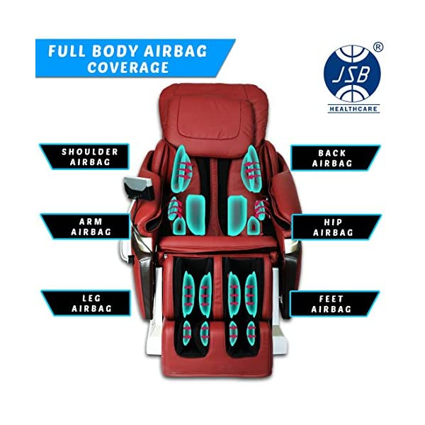 51jRHMmJqVL JSB MZ15 Full Body Massage Chair with Powerful 3D Back & Leg Massage (Red)