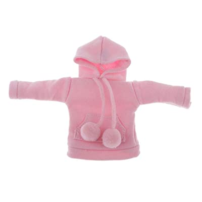Doll Clothes Accessories - Classic Hoodie T-Shirt for 1/6 BJD SD, for Blythe Pullip, 7 Colors for Choose - Pink: Toys & Games