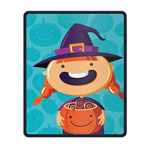 Non-Slip Rubber Mousepad,Halloween Poster Trick Or Treat Gaming Mouse Pad