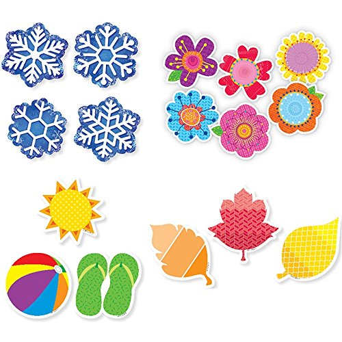 4 Seasons 3In Cut-Outs Pack -