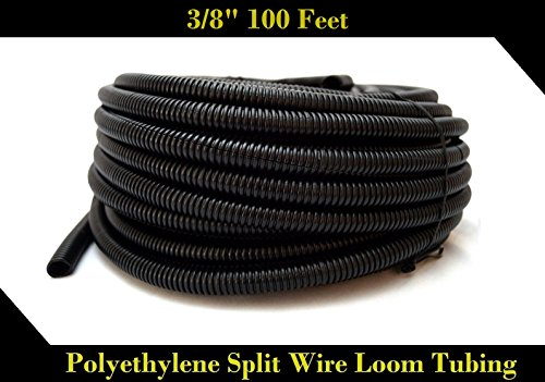 Wire Loom Black 20' Feet 3/8
