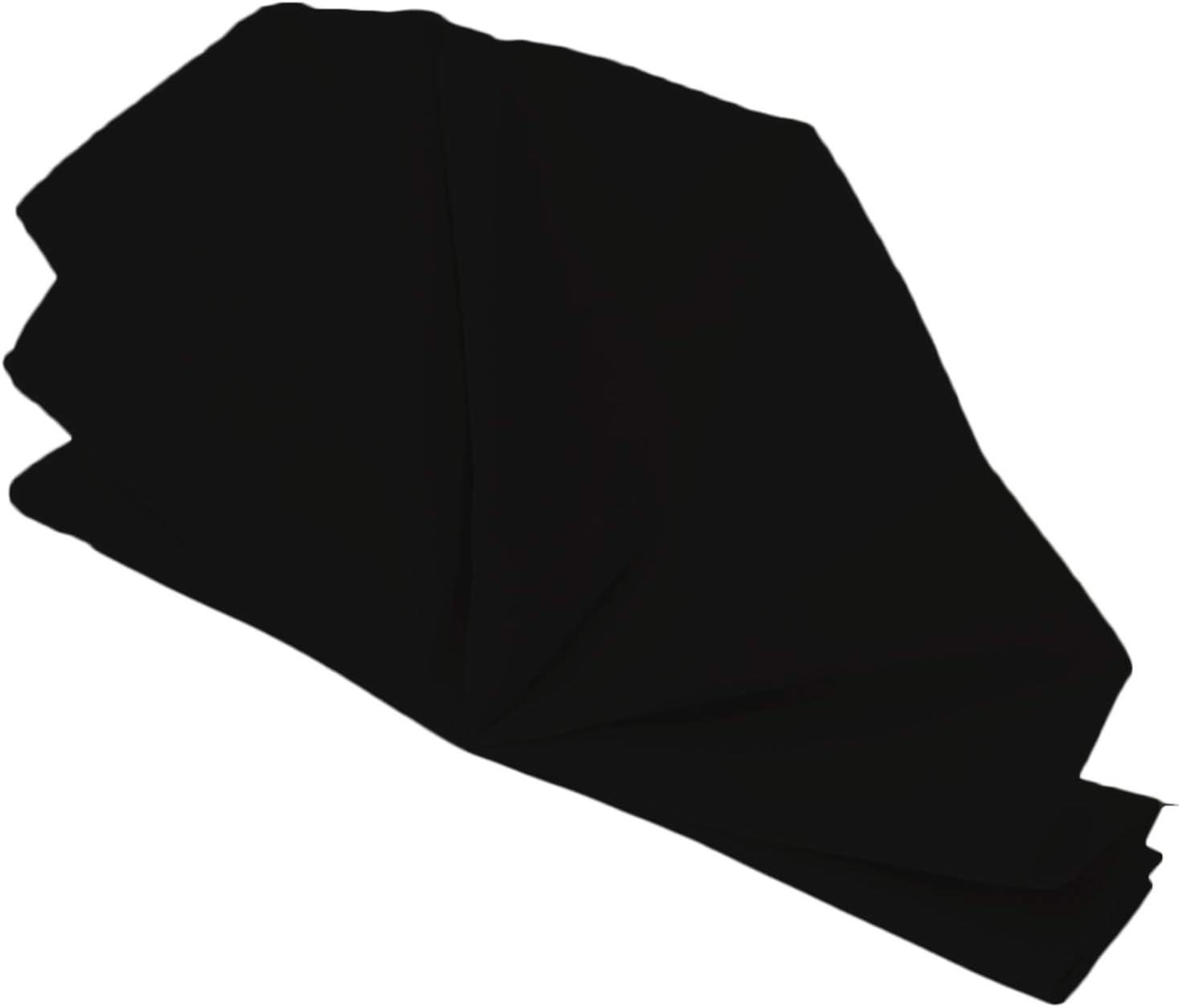 F/ête F/êtes Ourl/é Bords L/éger /& Lavable en Machine Banquet 10pcs Noir H/ôtel Mariage Repas WedDecor 20 inch Coton Polyester Table Serviette pour Maison