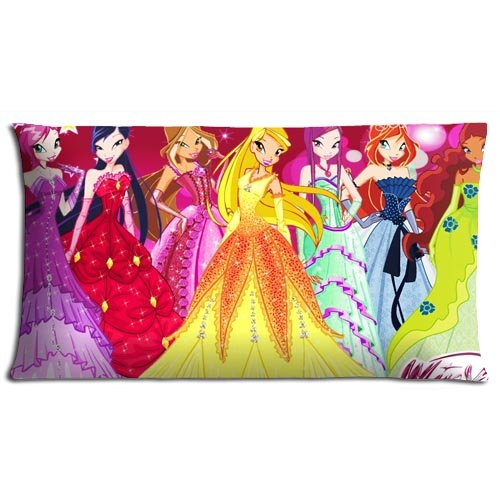Zippered Winx Club Bedding Pillow Cases Comfort Polyester And Cotton Sleep Safe 20x36(inch) (Winx Club Bedding)