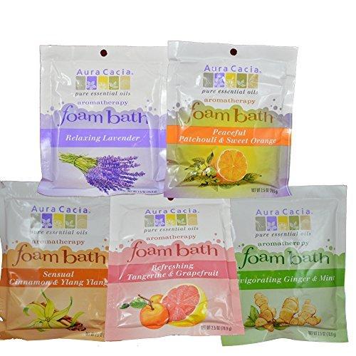 Aura Cacia Foaming Bath Salt Variety Pack (5PK) (Aura Cacia Foam)