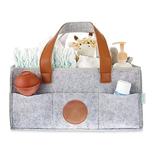 ADSRO Felt Storage Basket or Storage Box, Portable Large Diaper Box Organizer Manager Girls and Boys' Bags