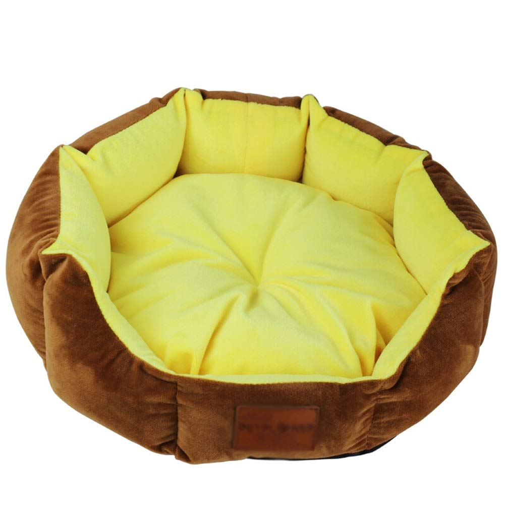 Diameter 48cm Pet Dog Bed For Small Medium Dogs Cotton + PP Filling Washable Waterproof Cat Nest Kennel Cushion House (Size   Diameter 48cm)