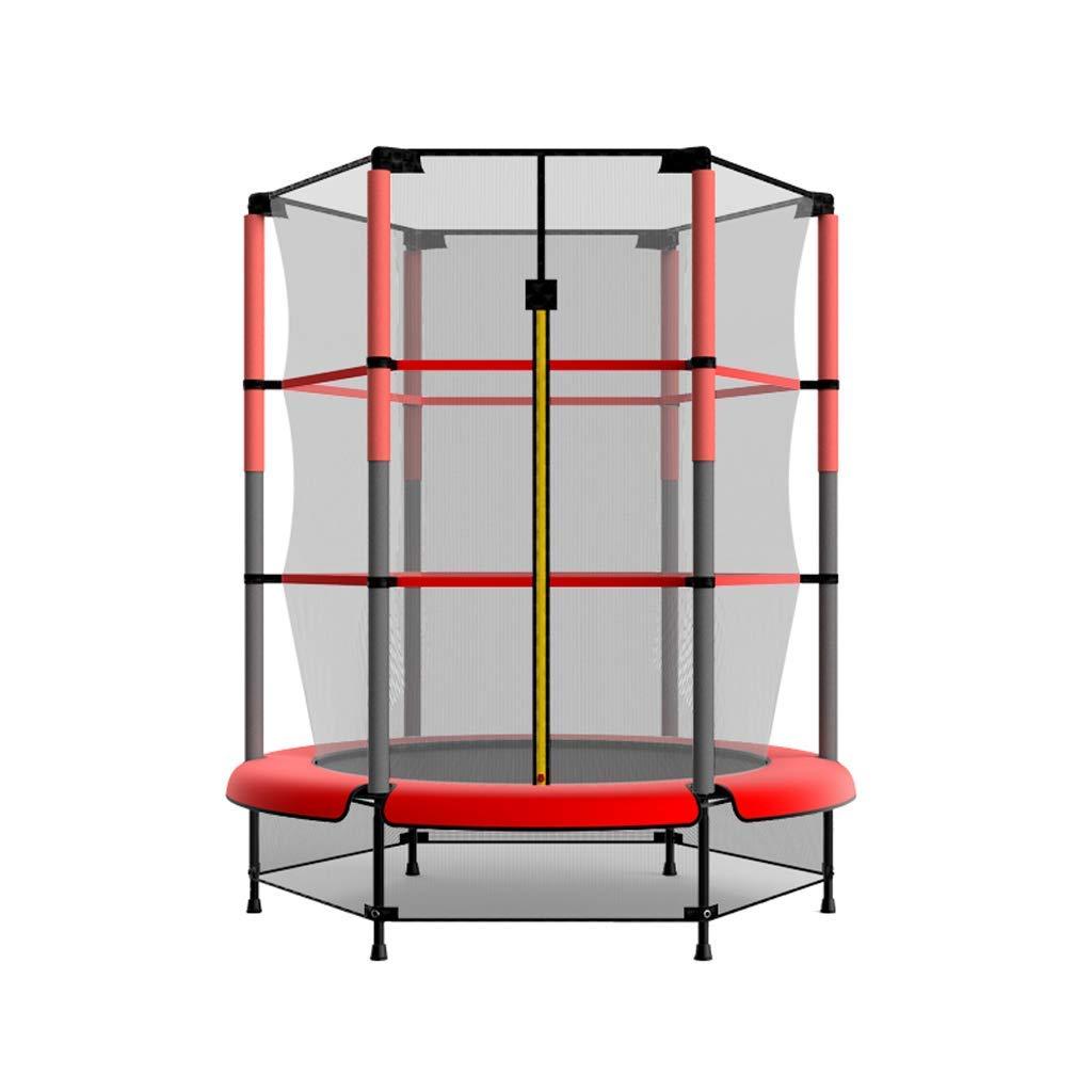 KALOY Mini 54-Zoll-Kids Runde Mini Bouncer mit Enclosure und Safety Jumping Mat, Rot, Gewichtskapazität bis zu 330 lbs, Durable Steel Frame