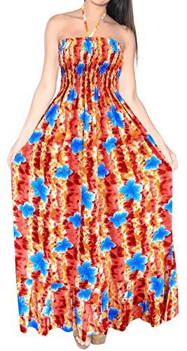 LA LEELA para Mujer de la Tarde de la Falda Maxi Vestido Tubo de Correas de Desgaste de la Playa del Traje de baño Traje de baño Encubrimiento Rojo_g932