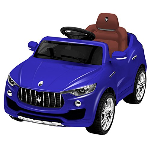 Costzon Kids Ride On Car, Licensed Maserati 6V Battery Powered Vehicle, Parental Remote Control & Manual Modes w/Opening Doors, Swing Function, Bluetooth, USB, MP3, Horn, Music, LED Lights, Blue