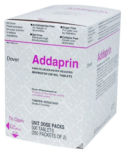 Addaprin Pain Relief Tablets Ibuprofen 200 mg. MS65050 (3,000)