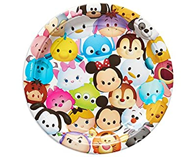"""American Greetings Tsum Tsum 9"""" Round Plate (8 Count)"""