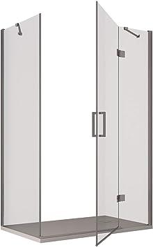 Olimpo duchas reg-70 X 140 ducha cabina sin perfiles Puerta Batiente, transparente, juego de 2 piezas: Amazon.es: Bricolaje y herramientas