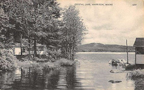 Harrison Maine Crystal Lake Scenic View Antique Postcard K89554 (Crystal Maine)