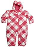 Columbia Baby Girls' Snuggly Bunny Down Bunting Bodysuit, Very Pink Small Gingham Print, 12 Months