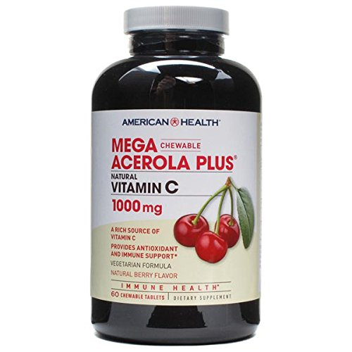 American Health Products - Mega Acerola Plus Vitamin C, 1000 mg, 60 ()