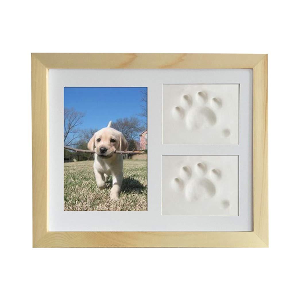 Blanc avec argiles suoryisrty Pet Memorial Picture Frame Kit de Cadre Photo pour Animal de Compagnie pour Chien et Chat pour Cadre de Table ou d/écor de Table