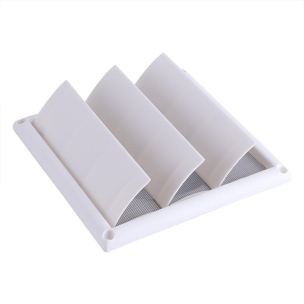 15 * 15 cm Cubierta de rejilla de ventilaci/ón de aire de pared de pl/ástico 3 solapas con rejilla de red a prueba de insectos y anti-polvo