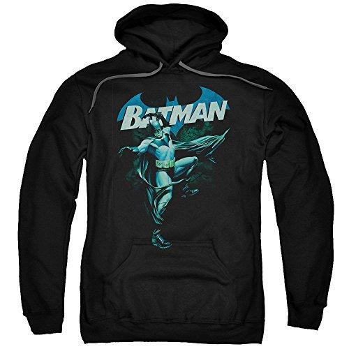 Blue Bat -- Batman Adult Hoodie Fleece Sweatshirt, -