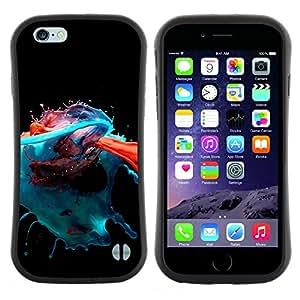 "Pulsar iFace Series Tpu silicona Carcasa Funda Case para Apple iPhone 6 / 6S (4.7 INCH) , Pintura Arte Splash Moderno Naranja Azul Rojo Negro"""
