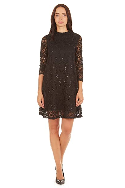 Tiana B Womens A Line Sequin And Lace Dress At Amazon