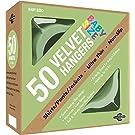 Closet Complete Baby Velvet Ultra Thin No Slip Hangers, Green, Set of 50