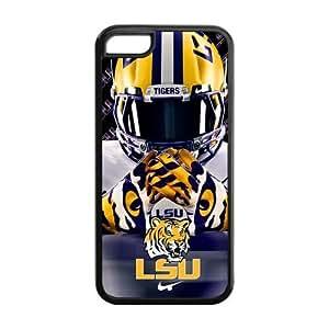 Purple Protective NCAA Lsu Tigers Apple Iphone 5C Case Cover University Football logo Helmet
