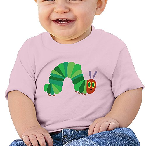 NUBIA Kid's Infant The Very Hungry Insect Short Sleeve T Shirts Pink 24