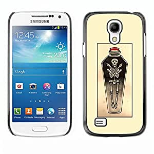 Rubber Case Hard Shell Cover Protective Accessory BY RAYDREAMMM - Samsung Galaxy S4 Mini i9190 MINI VERSION! - Yellow Sketch Potion Art