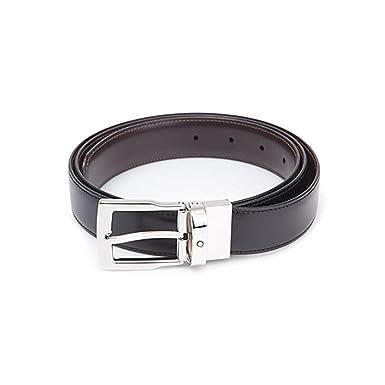 Montblanc ceinture homme cuir affaires reversible noire et marron a couper  selon la taille 109738 43d75364d0b