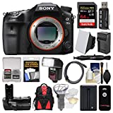 Sony Alpha A99 II Full Frame 4K Wi-Fi Digital SLR Camera Body with 64GB Card + Backpack + Flash + Battery & Charger + Grip + Remote + Kit For Sale