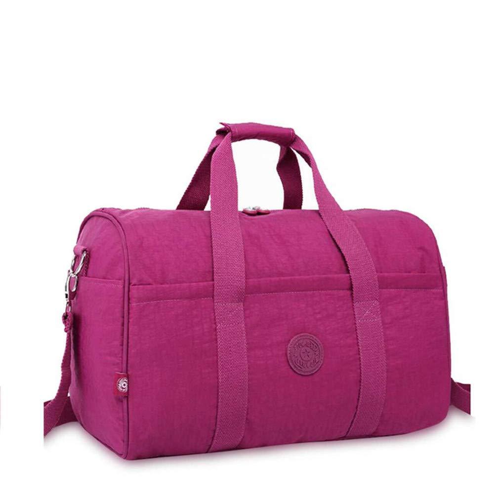 Men Travel Bags Portable Travel Handbag Waterproof Weekend Bags Large Big Bag Purple red