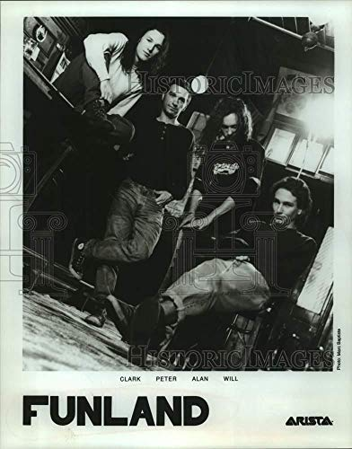 Vintage Photos 1997 Press Photo Clark, Peter, Alan and Will of Funland, Rock Music Group.