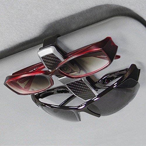 SEIKOSANGYO Japan EC-160 Car Sunvisor Clip Sunglass Organizer Black Carbon Twins Double Holder Sun Visor Mounts/Limousine Sedan Jeep VAN SUV RV